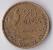 France, 20 Francs 1952, VF, WE1153